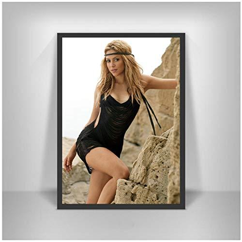 Ignite Wander Shakira Latin Rock Singer Poster und Drucke Moderne Wandkunst Figur Bild für Wohnzimmer Home Decor -60x80 cm No Frame