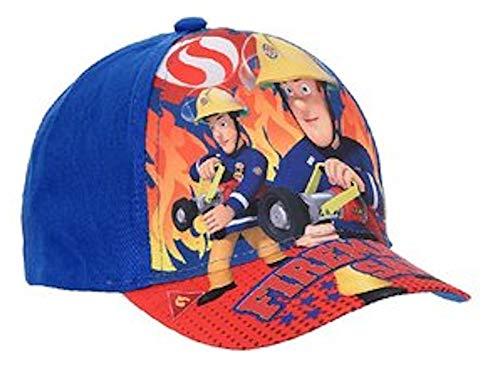Sun City Feuerwehrmann Sam Basecap Mütze Cap Kinder Kappe Schirmmütze (52, Blau)
