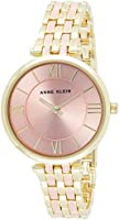 Anne Klein AK-3276PKGB Women Gold & Pink Bracelet Watch