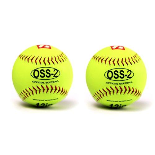 """Barnett OSS-2 - Pelota de béisbol par iniciación (12"""", 2 unidades), color blanco"""