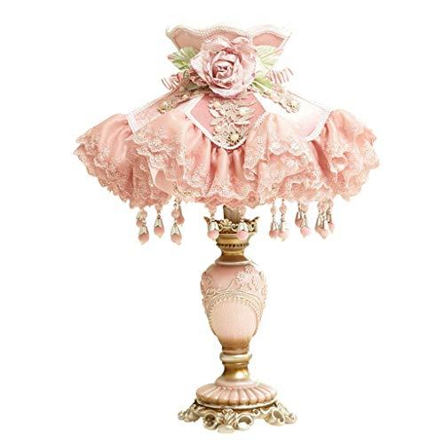AODISHA-1 handgesneden hars-tafellampen, E27 hotel-mal-bruilofts-nachtkastlampje, kant franjes lampenkap 26 * 26 * 49 cm -Gib licht in huis