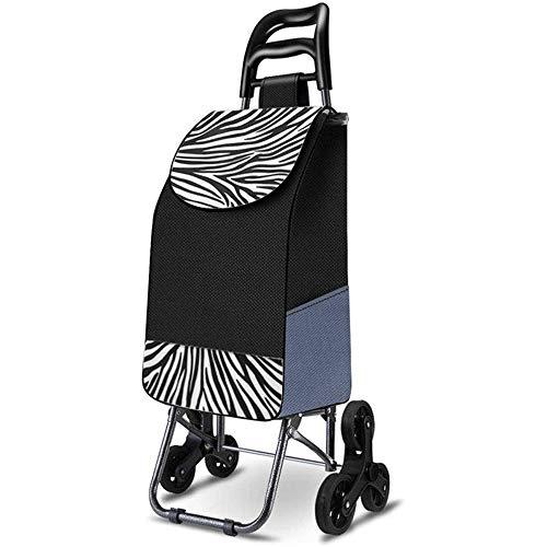 JJSFJH Roll Bag Warenkorb Warenkorb Kleiner Wagen Klappstuhl Trolley Tragbarer Warenkorb Startseite Treppensteigen Einkaufswagen (Color : A)