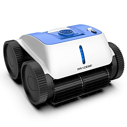 PAXCESS Cordless Robotic Pool Cleaner with Wall-Climbing Function Automatic Pool Vacuum with Smart Route Plan, Max Surface Cleaning & Powerful Suction for 1614 sq ft in/Above Ground Pools