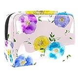 Tragbare Make-up-Tasche mit Reißverschluss, Reise-Kulturbeutel für Frauen, praktische Aufbewahrung, Kosmetiktasche, Rosenfeder