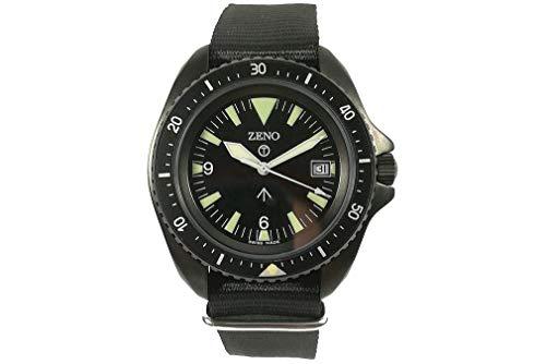 Zeno-Watch PRS-3Q-bk-a1 - Reloj de pulsera para hombre (mecanismo de cuarzo), color negro