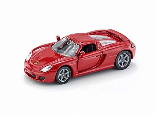 siku 1001, Porsche Carrera GT Sportwagen, Metall/Kunststoff, Rot, Öffenbare Türen, Spielzeugauto für Kinder