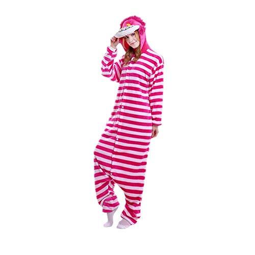 EVELS - Pelele unisex para adulto, pijama de una sola pieza, disfraz suave - Rosa - S
