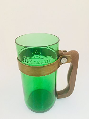 Taza de cerveza UPCYCLED - Hecho para botellas de cerveza y vodka recicladas (VERDE, 2)