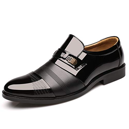 Wedding Dress Suit Formal Shoes Men Loafers Slip On Dress Business Work Shoes Outdoor Walking Casual Oxford Leather Shoes Black