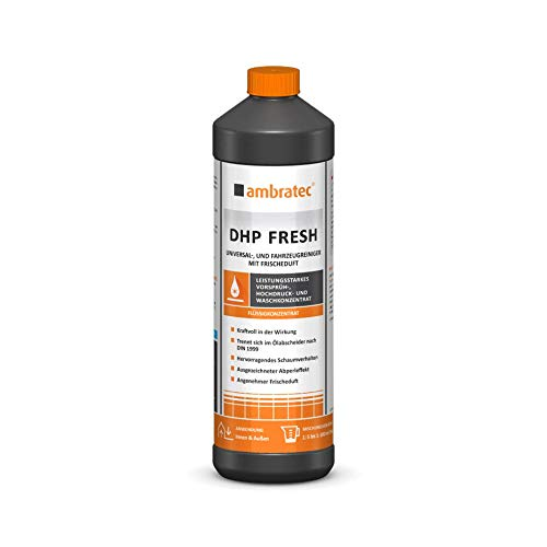 Ambratec DHP Fresh Potente prelavado, alta presión y concentrado de lavado con aroma fresco para caravanas, coches, lonas, interiores, champú limpiador