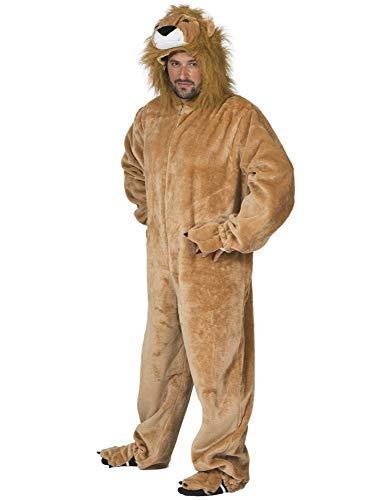 Funny Fashion Disfraz de león Salvaje Sanwa Mono Adulto Disfraz Animal Zoo África león (48/50)