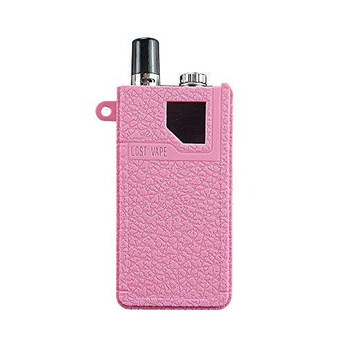 DSC-Mart Texture Case for Lost Vape Orion DNA POD Box Mod Protective Silicone Skin Rubber Cover Sleeve Wrap Gel Fits Lostvape (Pink)