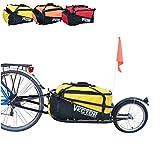 Vector Remorque vélo à monoroue pour Le trasport Bagages cyclotourisme Cargo de (Jaune)