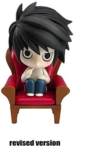 Death Note Figura L.Lawliet Q Versión Nendoroid Death Note Figura de acción Aproximadamente 4 Pulgadas - 4 Emoticones Anime Regalos Juguetes Kits de Modelos