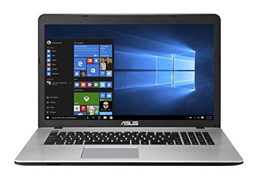 Asus F751LX-T4028T 43,94 cm (17,3 Zoll) Laptop (Intel core i7-5500U, 8GB RAM, 1000GB HDD, NVIDIA GeForce GTX 950M, DVD, Win 10 Home) schwarz