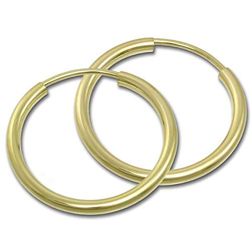 GoldDream 8 Karat Creolen 20mm 333 Gelbgold Ohrring Echt Gold Simply D2GDO0002Y ein schönes Geschenk zu Weihnachten, Geburtstag, Valentinstag für die Frau