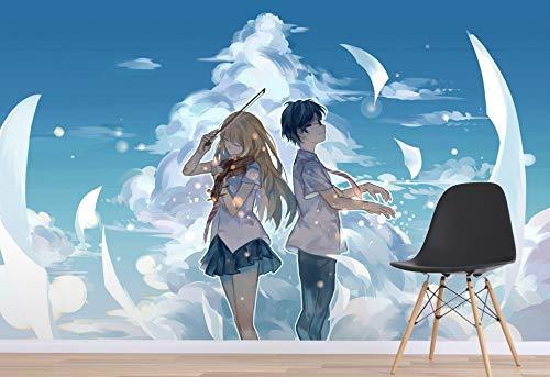 Tu Mentira En Abril Anime Pared Papel Mural Pared Impresión Calcomanía Murales De Pared (H)400*(W)280cm Un