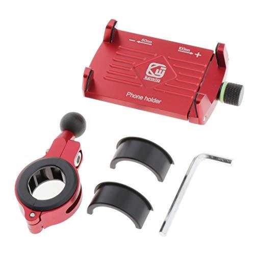 Gazechimp M7 Soporte para Teléfono con Cojines Mejoradοs en Las Cuatro Esquinas para Proteger el Teléfono de Golpes - Rojo, 50x100mm
