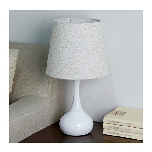 Lampe de table F Lampe de table simple et moderne moderne comptoir table de chevet chambre tissu parasol salon chambre des enfants bureau (y compris ampoule led E27) (Couleur : A-Dimming switch)