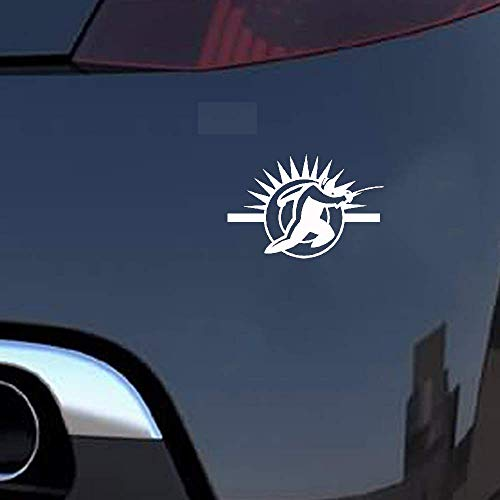 14,1x9,4 cm Mode Fechten Kampf Grafik Auto Aufkleber Decorsilhouette für Auto Laptop Fenster Aufkleber