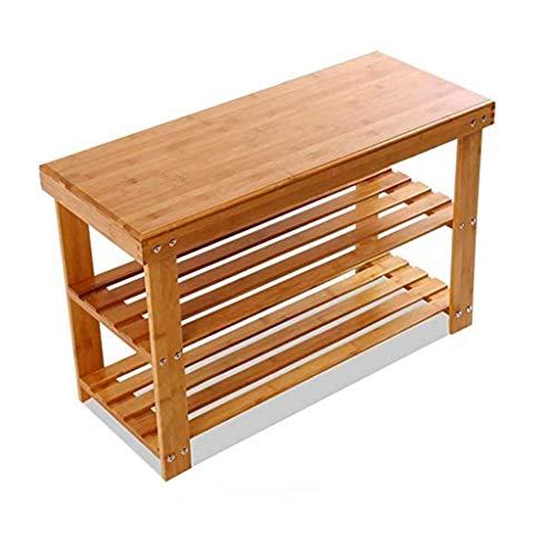 XLEVE Zapato del gabinete Productos de bambú, Estanterías de Calzado Multi-estantes de Las Tiendas de Zapatos Multifuncional Marco