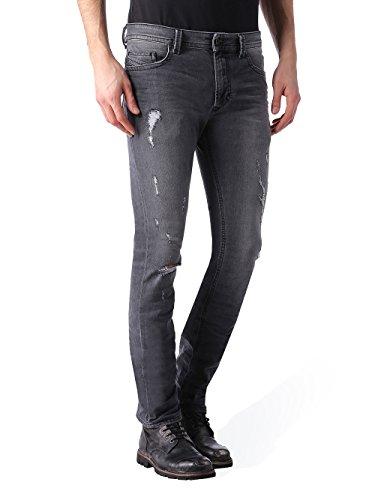 DIESEL Thavar 0673P_Stretch Hommes Jeans Pantalon Slim Skinny (Gris, 33W / 32L)