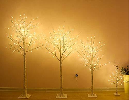 Warm Albero chiaro Bianco Bianco Betulla/Rose, for il Natale del partito decorazioni di festa Collegare Interni Esterni Usa (4 formati) (Color : White birch-180cm)