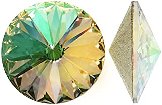 SWAROVSKI Crystal, 1122 Rivoli Fancy Stones 14mm, 2 Pieces, Crystal Luminous Green F
