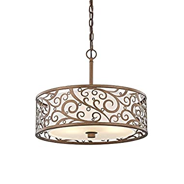 Fifth and Main HD-1073-I Carousel 3 Light 18  Pendant, Burnished Gold