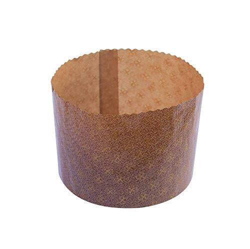 40 Stück Backform für Pantoni, hohe Form für Panettone, Durchmesser 7 cm, Höhe 5 cm, 100 g