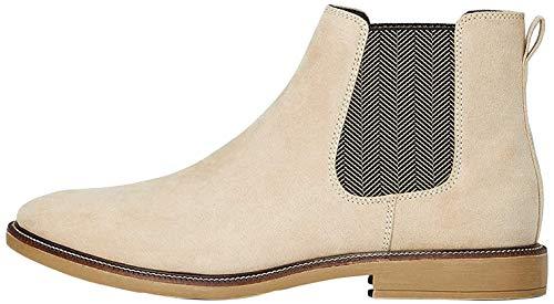 find. Marsh Herren Chelsea Boots Stiefel, Braun (Sand Suede Look), 42 EU