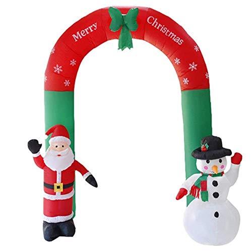 LYMHGHJ Sedia Natale Gonfiabile 240 cm Babbo Natale Pupazzo di Neve Arco con Decorazione stagionale a LED Ornamento da Giardino all'aperto Airblown Giardino Yard Seat Slip