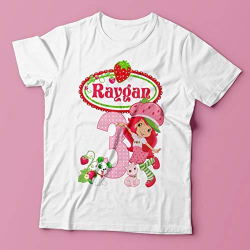 Strawberry Shortcake Birthday Shirt/Strawberry Shortcake Shirt/Princess Birthday Shirt/Strawberry Shortcake Outfit/Strawberry Shortcake Party Shirt