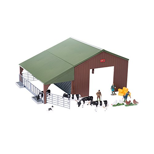 Britains 1:32 Animal Farm Building Playset Collectable Farm Animals for Toddlers | Farm Set with Animal Toys Including Giant Barn, Cows, Chickens, Farming Family & Sheepdog | Children from 3 Years Old