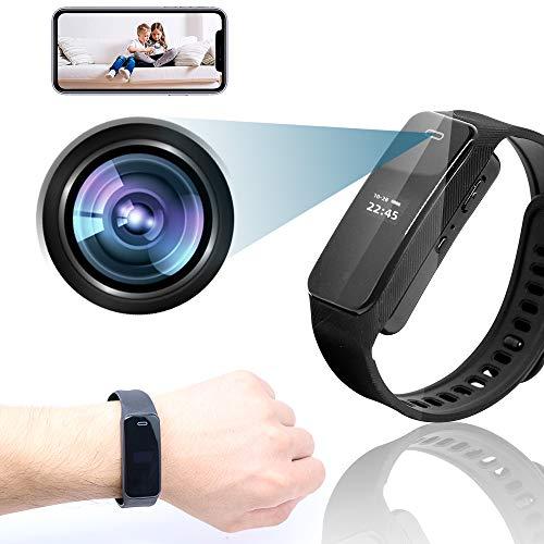 WiFi Video Recording Bracelet & Mini Hidden Camera Tiny Spy Camera 1080P HD Camera Wearable Video Recorder Portable Smart Bracelet /Watches for Video Photo Recording