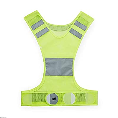 New Balance Reflective Vest - Safety Reflector Gear High Visibility Shoulder Straps & Belt for Night Time Running/Jogging, Walking, Cycling/Bike for Women, Men, Kids, Green (LAO63912YL)