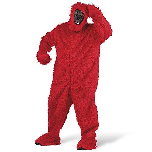 Limit Sport – Déguisement peluche gorille pour adulte, couleur Rouge, taille M (ma067r)