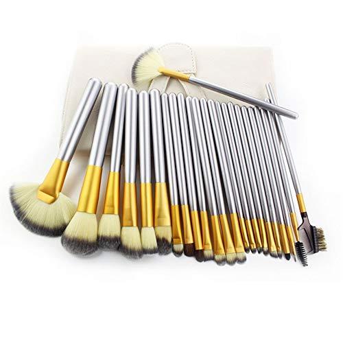 Pinceaux Maquillage Set Set de pinceaux beige maquillage cheveux persans, 24