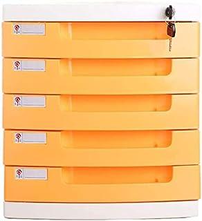 Classeurs Fichier créatif Cabinet Cinq Couches en Plastique de Bureau Fichier des ménages de Stockage Armoire de Rangement...