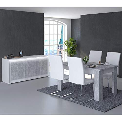 SKALA - Ensemble Table 180cm Allongeable + Buffet 3 Portes