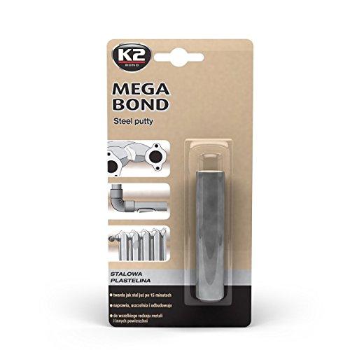 K2 Mega Bond Ampoule, 2 éléments pâte à Modeler, Acier Pla stilin Idéal pour ausbessern de Fer, Acier, Acier pâte à Modeler 60 g