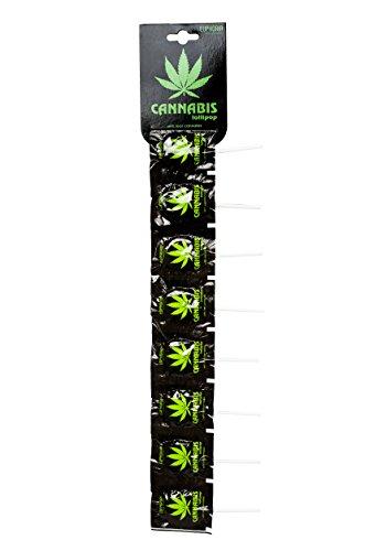 Euphoria Cannabis Lollipops (10 Stück) | Flat Lutscher - Lolly mit Hanf ätherisches Öl (Strip)