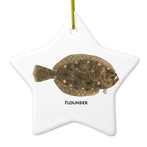Mesllings Novelty Christmas Tree Decor Flounder Logo Ceramic Ornament Star Christmas Decorations Ornament Crafts