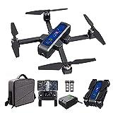 Drone GPS, con fotocamera 4K HD, trasmissione WiFi 5G, quadricottero RC pieghevole senza spazzole con posizionamento ottico del flusso, ritorno automatico, con 2 batterie e custodia per il trasporto