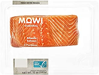MOWI Essential Atlantic Salmon Portions 2-portions 12 oz, Fresh Never Frozen