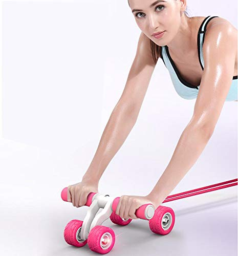 Best Price QIXIN Stable Anti-Rollover 4 Wheels Abdominal Exercise Roller, Roller Fitness Abdominal W...