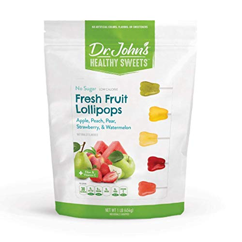 Dr. John's Healthy Sweets Sugar Free Fresh Fruit Tooth Lollipops (1LB)
