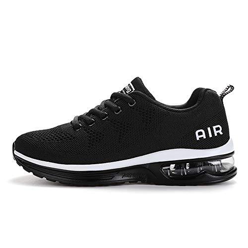 TORISKY Sportschuhe Herren Damen GolfschuheTurnschuhe Laufschuhe mit Luftpolster Sneaker Air Schuhe Leichte(A35-BK43)