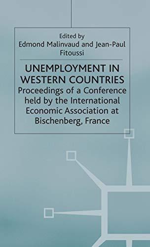 Unemployment in Western Countries (International Economic Association Series)