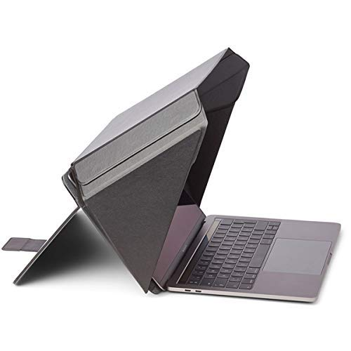 NEW Technology! Made from Organic Materials | Laptop Sun Shade & Privacy Cover/Hood for most 15'-16', Black | Universal | Only Cover Providing Complete Privacy and Sun Protection | Patent No. D790551.